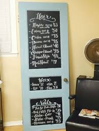Home Salon Decorating Ideas Salon Chalk Board Behind The Chair Pinterest Salons Board