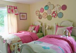 pink and black girls bedroom ideas brown slipcover fabric corner sofa black ceramics floor little