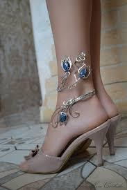 Leg Flower - gift anklet jewelry flower anklet leg bracelet