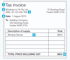australian tax invoice template excel issuing tax invoices