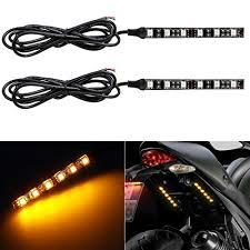 led light strip turn signal amazon com partsam led strip light bar 2x 6led mini black