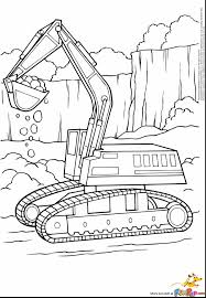 amazing excavator coloring pages to print with construction