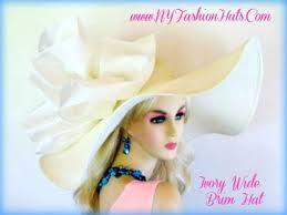 ivory or black wide brim designed ladies wedding hat dress hats 9gb