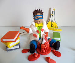 3d cake mad scientist edible fondant 3d cake topper science chemistry