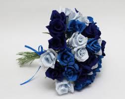 Blue Wedding Bouquets Wedding Bouquet Paper Flower Bouquet Bridesmaids Bouquets