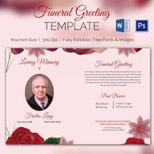 free funeral invitation template 66 best order of service funeral