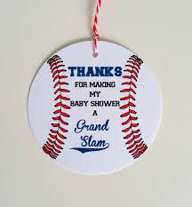 set of 12 baseball baby shower favor tag baseball theme baby