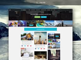 architecture layout design psd news blog free website template psd download download psd