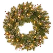 buy 24 pre lit wreath from bed bath beyond