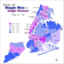 Harlem Map New York by Here U0027s Where New York City U0027s 729 500 Young Single Ladies Live
