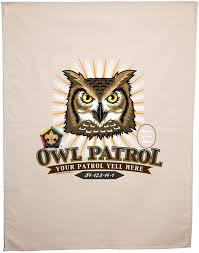 custom owl wood badge burst patrol flag sp dp5101 classb