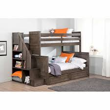 Ryan Twin Over Double Bunk Bed With Universal Staircase - Double and twin bunk bed