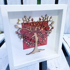 family tree frame gift family keepsake rustic home decor family