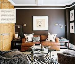 Leather Home Decor by Leather Couch House Home Decor Brown Livingroom Zebr