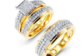 gold wedding set ring memorable winsome superb gold wedding ring sets for him and