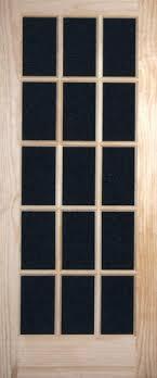 15 Lite Exterior Door Pine Indoor Doors Glass Panel Interior Doors
