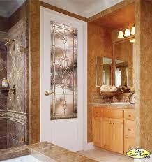 Barn Door Office by Interior Glass Door In 8 Ft Bathroom To Master Bedroom Stained