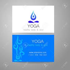 imagenes estudios yoga logotipo de la yoga diseño de la muestra y tarjetas de visita