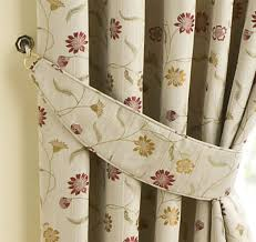 homescapes cream curtain jacquard tie backs set of 2 complementing