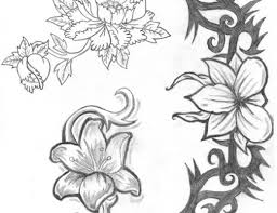 red hawaiian flowers tattoo designs photos pictures and
