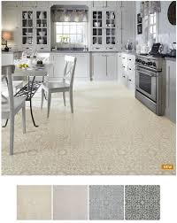 mosaic tile flooring in 12 vinyl tiles in 5 colors retro