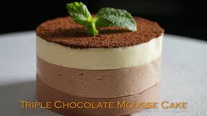 triple chocolate mousse cake recipe bruno albouze the real