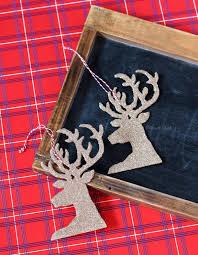Glitter Deer Christmas Decor by 30 Diy Christmas Decoration Ideas Hative