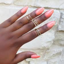 midi rings set gold midi rings set urbanly chic