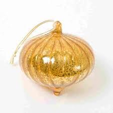 gold ribbon mercury glass ornament