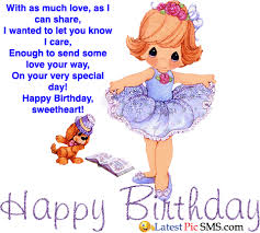 animated birthday greetings for girlfriend latest picture sms
