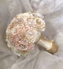 Gold Boutonniere Rose Gold Brooch Bouquet 520 Incl Boutonniere U2013 Glam Bouquet