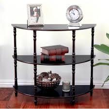 Espresso Console Table Megahome Espresso Console Table Mh306 The Home Depot
