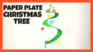 swirling paper plate christmas tree fun christmas crafts for
