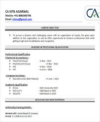 sle resume for chartered accountant student journal writing career objective resume chartered accountant 100 images exles