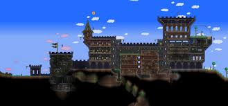 Build A Small Castle Terraria Castle By Naughty Uk On Deviantart
