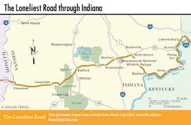 Indiana Road Map Traveling Indiana U0027s Section Of The Loneliest Road Road Trip Usa