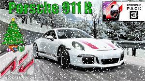 porsche christmas christmas special porsche 911 r in snow and ice assetto corsa
