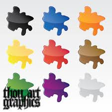 colorful oil paint splatter vector vector free download