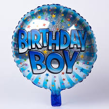 birthday boy holographic blue birthday boy foil helium balloon only 2 49