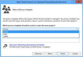 create a team project in vsts or team foundation server tfs