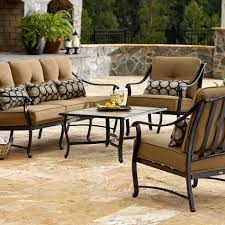 Sears Patio Furniture Cushions by La Z Boy Outdoor Landon 4 Piece Seating Set Limited Availability