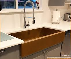 kitchen with apron sink copper and stainless steel farmhouse sinks havens metal