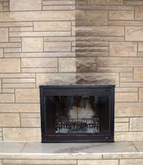 Painted Stone Fireplace Paint