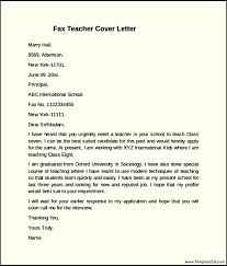cover letter examples to fax