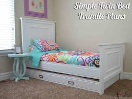 Plans For Bunk Bed With Trundle by Simple Twin Bed Trundle Her Tool Belt