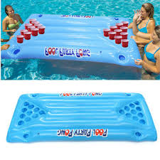 floating table for pool pvc inflatable beer pong ball table water floating raft lounge pool