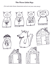 3 little pigs printables kids coloring europe travel guides com