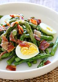 asparagus egg and bacon salad with dijon vinaigrette recipe
