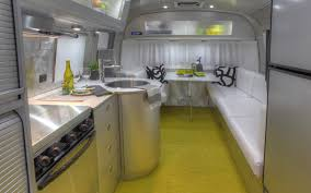 Rv Modern Interior Wonderful Airstream Trailer Interior With Comfortable Leather Sofa