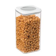 oggi twist and store square airtight acrylic canister 95 ounce 5574